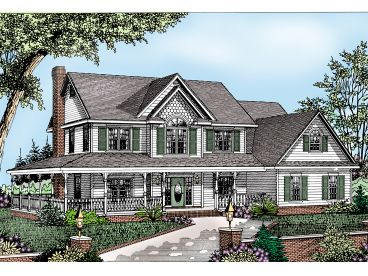 Country Victorian House, 044H-0018
