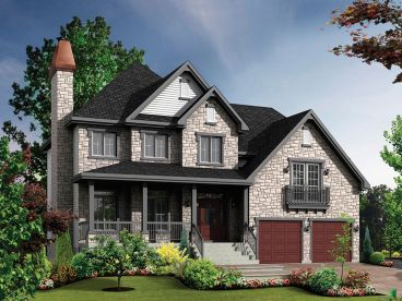 Two-Story European House Plan, 072H-0155
