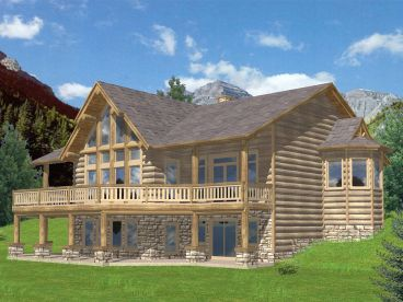 Mountain Home Plan, Rear, 012H-0118