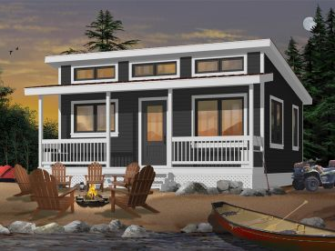 Vacation Cabin Plan, 027H-0464