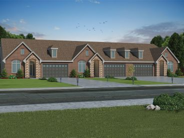 Triplex House Plan, 031M-0084
