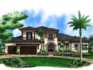 mediterranean house plan 037h 0193 - Mediterranean House Plans