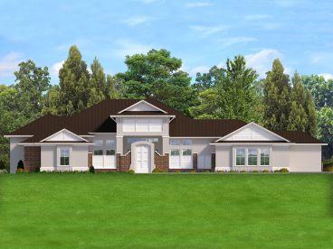 Premier Luxury House Plan, 064H-0129