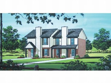 Duplex House Plan, 021M-0003