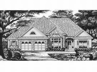 Ranch House Plan, 015H-0096