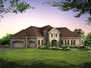European House Plan, 057H-0019