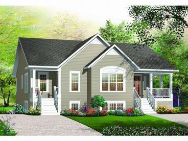 Duplex Home Design, 027M-0021