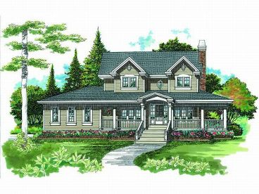 Two-Story House Plan, 032H-0090