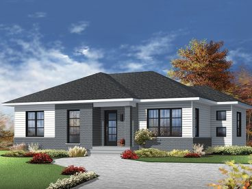 Modern Ranch House Plan, 027H-0421