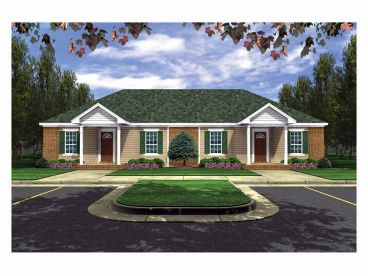 Duplex House Plan, 001M-0001
