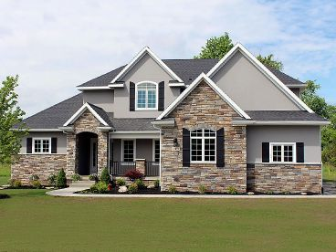 Two-Story House Plan, 031H-0322