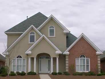 Two-Story Sunbelt House Plan, 073H-0056