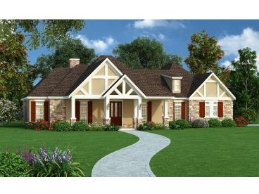 Tudor House Plan, 021H-0233