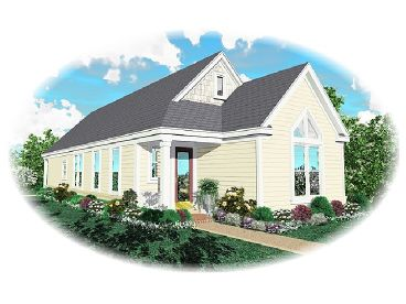 Narrow Lot House Plan, 006H-0040