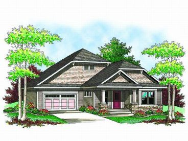 Bungalow House Design, 020H-0154