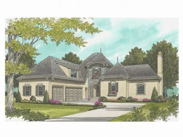 European House Plan, 029H-0038