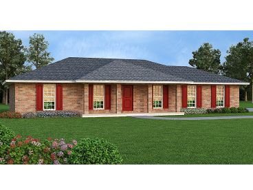 Ranch House Plan, 021H-0238