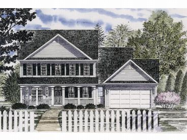 Two-Story Home Design, 014H-0055