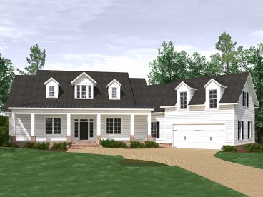 Country Ranch House Plan, 080H-0006