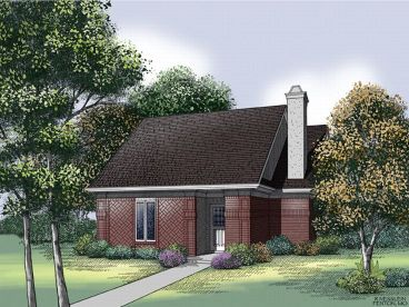 Narrow Lot Home Design, 021H-0037
