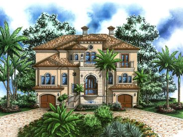 Coastal House Plan, 037H-0074