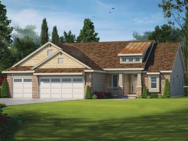 Craftsman House Plan, 031H-0243