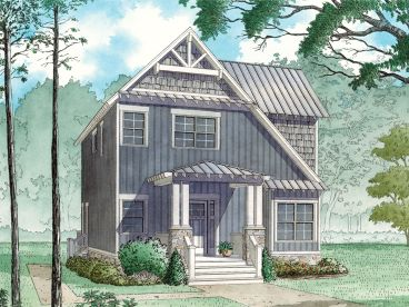 Narrow Lot House Plan, 074H-0062