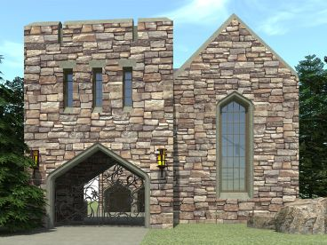 Scottish Castle House Plan, 052H-0082