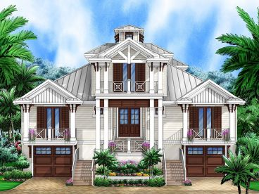 Coastal Home Plan, 037H-0203