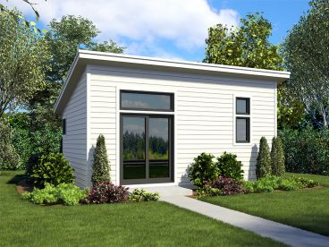 Modern Tiny House Plan, 034H-0436