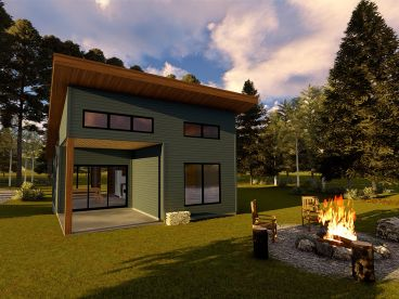 Modern Tiny House Plan, 050H-0141