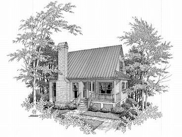 Cabin Home Plan, 030H-0002