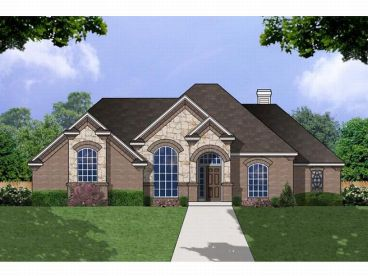 European House Plan, 015H-0074