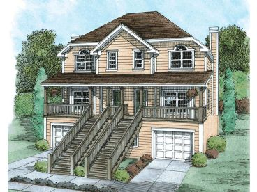 Duplex Home Plan, 031M-0037