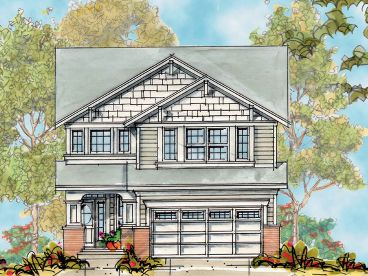 Narrow Lot Home Plan, 031H-0215