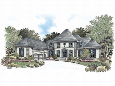 Luxury House Plan, 021H-0198