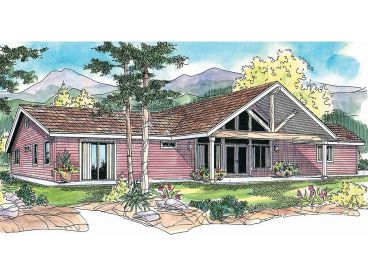Rustic Ranch House Plan, 051H-0205