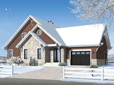 Two-Story Home Plan, 027H-0292