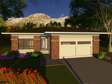 Contemporary House Plan, 020H-0404