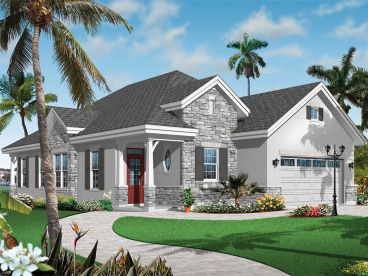 Sunbelt House Plan, 027H-0378