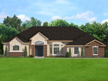 Ranch House Plan, 064H-0127
