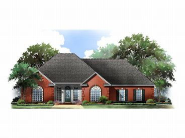 Ranch Home Plan, 001H-0027