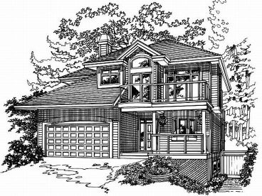 Narrow Lot House Plan, 032H-004