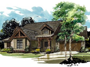 Two-Story Mountain Home Plan, 066H-0026