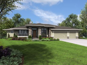 Contemporary House Plan, 034H-0307