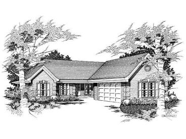 Ranch House Plan, 061H-0036