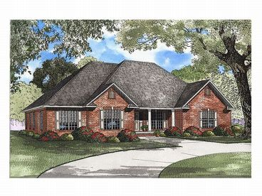 Ranch Home Design, 025H-0105