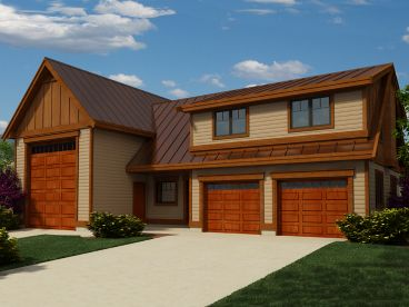 Garage Apartment Plan, 010G-0023