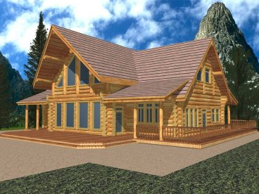 Log House Plan, 012L-0060