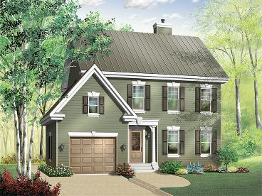 Cape Cod House Plan, 027H-0195